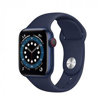 Apple Watch Series 6 GPS + Cellular, 40mm Blue Aluminium Case with Deep Navy Sport Band - Regular