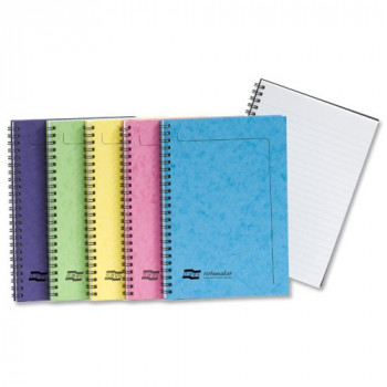 Europa 3155Z A5 Notemaker Book Sidebound Ruled, 80 gsm - Assorted C, Pack of 10