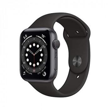 Apple Watch Series 6 GPS, 44mm Space Gray Aluminium Case with Black Sport Band - Regular