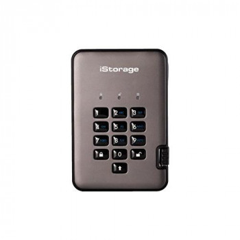 iStorage IS-DAP2-256-500-C-G 500GB diskAshur PRO2 USB 3.1 secure portable encrypted hard drive