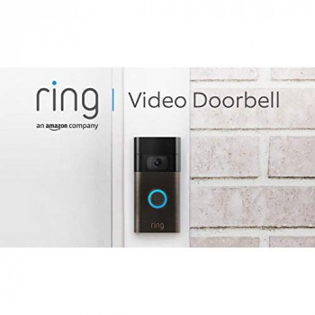 Ring Video Doorbell by Amazon  1080p HD video, Advanced Motion Detection, and easy installation (2nd Gen)   With 30-day free trial of Ring Protect Plan