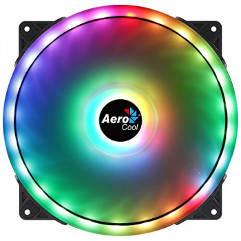 Aerocool Duo 20 ARGB LED PC Fan, 200 mm, 700 rpm, Curved Fan Blades for Maximum Cooling and Anti-Vibration Pads