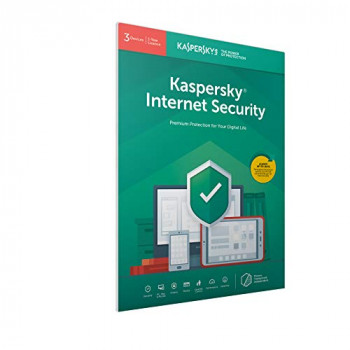 Kaspersky Internet Security 2019 3 Devices 1 Year PC/Mac/Android Activation Code by Post