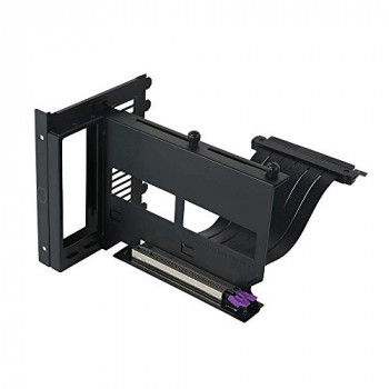 Cooler Master Universal Vertical GPU Holder Kit V2, for ATX Chassis & PCI-E 3.0 Devices, Modular Video Card Support, Includes 165 mm Riser Cable V2, Thick SGCC Steel Bracket for Sturdiness, Black