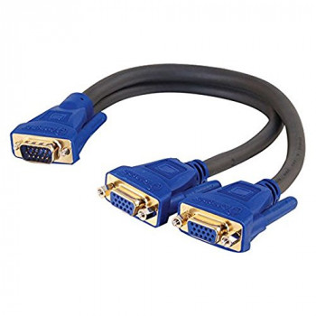 C2G Ultima One HD15 Male to Two HD15 Female SXGA Monitor Y-Cable 30cm