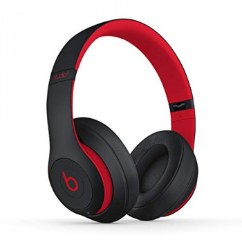 Beats Studio3 Wireless Noise Cancelling Over-Ear Headphones - Apple W1 Headphone Chip, Class 1 Bluetooth, Active Noise Cancelling, 22 Hours Of Listening Time - Defiant Black-Red