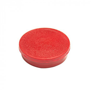 Bi-Office IM130509 30 mm Round Magnet - Red (Pack of 10)