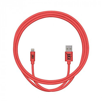 Juice Apple iPhone 11, Pro, iPhone X, Xr, iPhone 8, 7, 6, SE, iPad Lightning Charge & Sync Cable, 1m, Coral