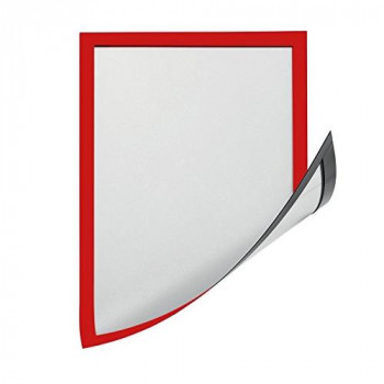 Magiboards AW1400RED Magnetic Document Display Frame With Front, Red, 12 x A4