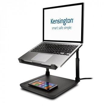 Kensington K52784WW SmartFit Laptop Riser with Wireless Phone Qi Charging Pad for 15.6-Inch Laptop - Black