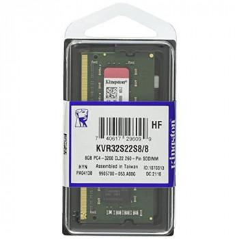 Kingston KVR32S22S8/8 Memory 8 GB 3200MHz DDR4 Non-ECC CL22 SODIMM 1Rx8