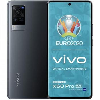 "vivo X60 Pro 5G, Midnight Black, 12+256GB, 6.5"" AMOLED FHD+ Display, NFC, Fingerprint Sensor, 4200mAh Battery with Qualcomm Snapdragon Processor, Sim Free Smartphone, Dual SIM + 2 Year Warranty"