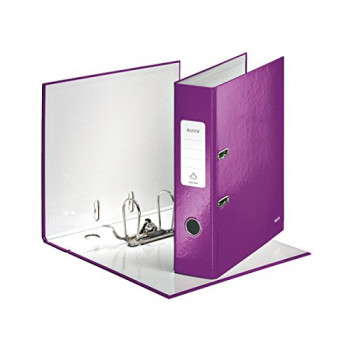 Leitz 1005 Wow A4 Lever Arch File 80 mm - Purple, Pack of 10