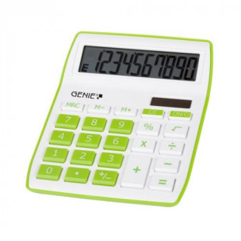 Genie 12266 Desktop Calculator - Green