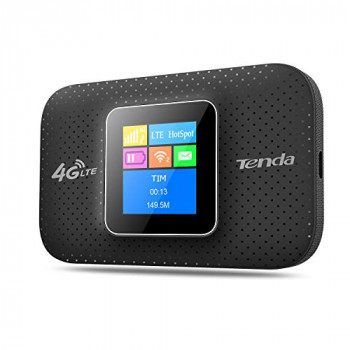 4G185 Mobile Router Hotspot Portable Router 4G Router WiFi 150 MBps 4G LTE Single Band (2.4 GHz), Black