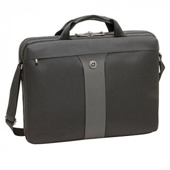 "Wenger 600654 LEGACY 17"" MacBook Pro Slimcase , Airport friendly with iPad/Tablet / eReader Pocket in Black / Grey {9 Litres}"