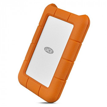 LaCie Rugged Mini 1 TB USB-C + USB 3.0 Portable 2.5 inch External Hard Drive for PC and Mac