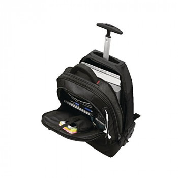 Monolith 3207 2-in-1 Wheeled Laptop Backpack - Black