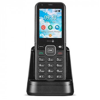 Doro 7000H 4G/LTE Cordless Phone with Docking Station Using a Mobile Network. Supports Wi-Fi, Bluetooth and WhatsApp. Ideal for Homes, Business or Temporary Work Places (Black)