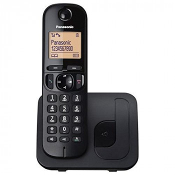 Panasonic KX-TGC210EB Digital Cordless Phone with LCD Display - Black