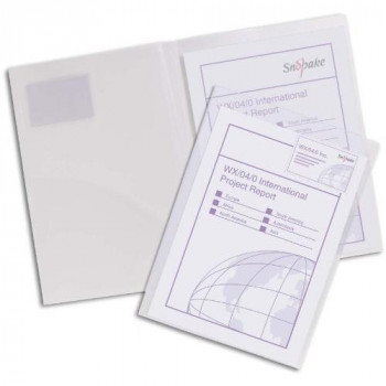 Snopake Twinfile Folder Polypropylene A4 Clear Ref 14030 [Pack of 5]