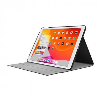 Incipio Faraday Folio Case Compatible with Apple iPad 10.2 Inch (2019) - Black [Wake/Sleep I Pencil Holder I Faux Leather I Stand I Magnetic Closure] - IPD-406-BLK