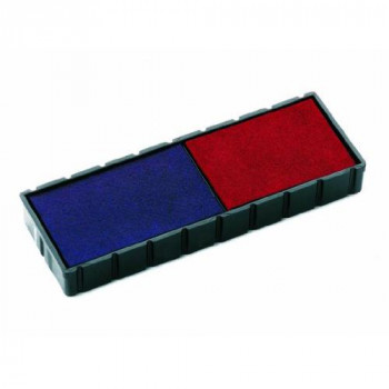 Colop E/12/2 Stamp Pads for S120/WD Blue/Red Ref E/12/2 [Pack of 2]