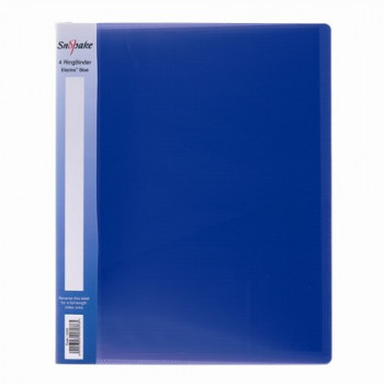 Snopake 10180 2 Ring 25mm Capacity A4 Ring Binder Blue (Pack of 10)