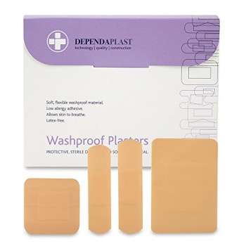 Reliance Medical Assorted Sizes Dependaplast Washproof Plasters - Pack of 100