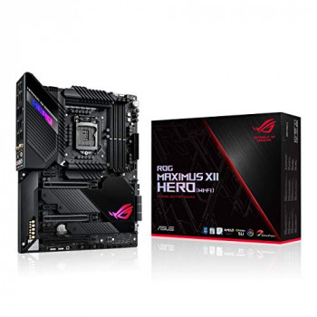 ASUS ROG Maximus XII Hero (Wi-Fi) Intel Z490 LGA 1200 ATX Gaming Motherboard (16 Power Stages, DDR4 4700+ MHz, Wi-Fi 6, 5 Gbps LAN, Intel LAN, Triple M.2, OptiMem III, USB 3.2 Gen 2, Aura Sync RGB)