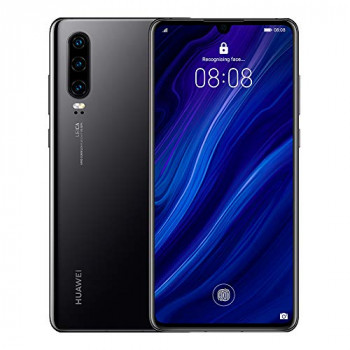 Huawei P30 128 GB 6.1 Inch OLED Display Smartphone with Leica Triple Camera, 6GB RAM, EMUI 9.1.0 Sim-Free Android Mobile Phone, Midnight Black, UK Version