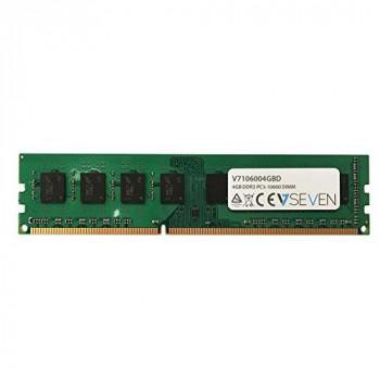 V7 V7106004GBD Desktop DDR3 DIMM Memory Module 4GB (1333MHZ, CL9, PC3-10600, 240 polig, 1.5 Volt)