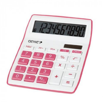 Genie 12264 Desktop Calculator - Pink