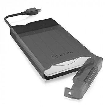 """Boitier Externe ICY BOX IB-235-C31 USB 3.1 Type C - 2""""1/2 S-ATA (Noir)"""