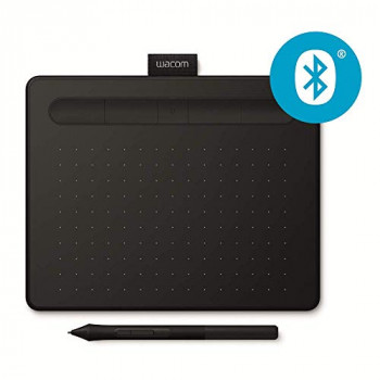 Wacom Intuos S black, Bluetooth Pen tablet ? Wireless Graphic Tablet for painting, sketching and photo retouching with 2 free creative software downloads, Windows & Mac compatible