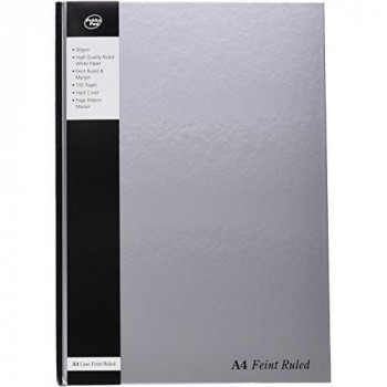 Pukka Pad Notebook with Ribbon Casebound Hard Cover 192 Pages 90gsm A4 Silver Ref RULA4 [Pack of 5]