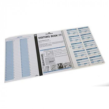 Durable 146465 Visitor Book 100 Refill, 100 Perforated 90 x 60 mm Visitor Badge Inserts