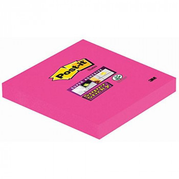 Post-it 76 x 76 mm Super Sticky Notes - Fuschia Colour - 1 Pad