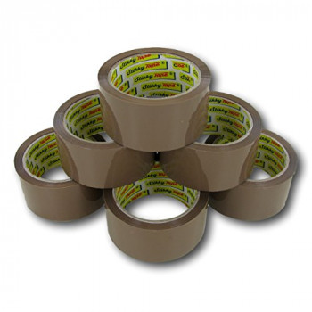 Value Buff Packaging Tape 48mmx66m PK6