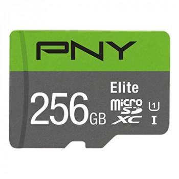 PNY Elite microSDXC card 256GB Class 10 UHS-I U1 100MB/s A1 V10