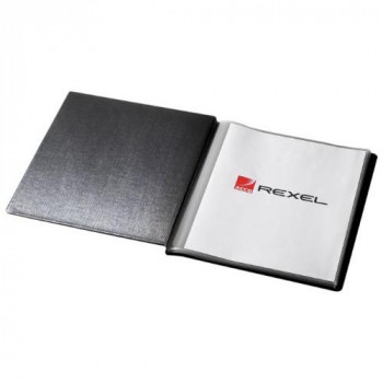 Rexel Presentation Display Book A4 Black (20 Pockets)