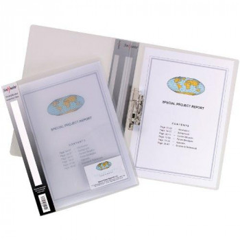 Snopake 12772 A4 Clamp Binder with 100 Sheet Capacity - Clear (Pack of 10)