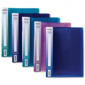 Snopake 12199 A4 Electra Display Books with 10 Pockets - Assorted Colours (Pack of 10)