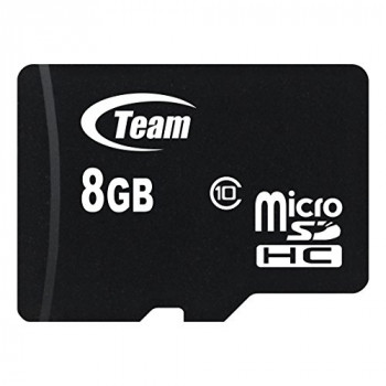 Team 8GB Micro SDHC Class 10 Flash Card with Adapter