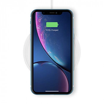 Belkin Boost Up Wireless Charging Pad 10 W, Fast Wireless Charger for iPhone XS, XS Max, XR, Samsung Galaxy S10, S10+, S10e, Huawei P30 Pro, UK Plug Included, White