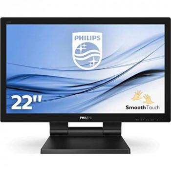 """Philips 222B9T - 22"""" HD Touchscreen Monitor, Speakers - (1920 x 1080 Full HD - TN - 250 cd/m² - 1000:1 - 1 ms - HDMI, DVI-D, VGA, DisplayPort)"""