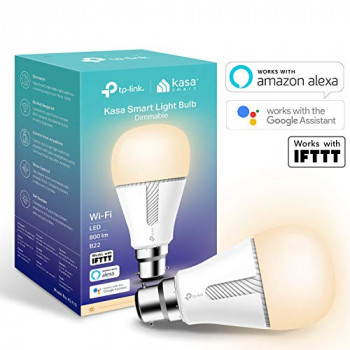 TP-Link Smart Bulb, WiFi Smart Switch, B22, 10W, Works with Amazon Alexa (Echo and Echo Dot), Google Home and IFTTT, Dimmable Soft Warm White, No Hub Required [Energy Class A+]