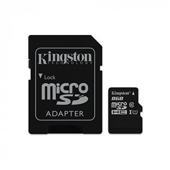 Kingston SDCIT/8GB microSDHC 8 GB UHS-I Class 10 Industrial Temperature Card + SD Adapter