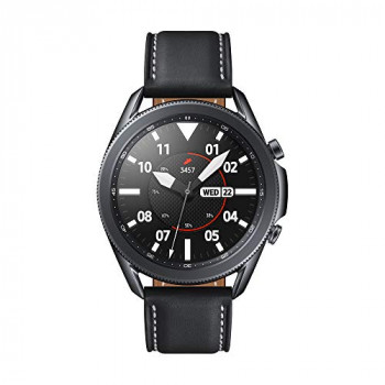 Samsung Galaxy Watch3 Stainless Steel 45mm Bluetooth Smart Watch Mystic Black (UK Version)