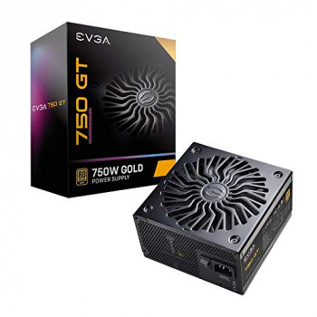 Evga Supernova 750 Gt, 80 Plus Gold 750W, Fully Modular, Auto Eco Mode With Fdb Fan, Includes Power on Self Tester, Compact 150Mm Size, Power Supply 220-Gt-0750-Y3 (Uk)
